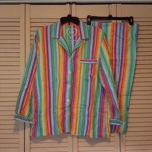 Victoria's Secret Rainbow Pajama Set